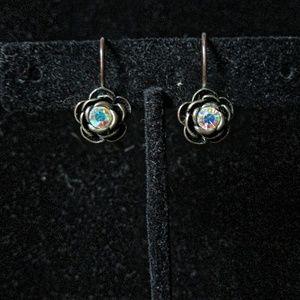 Bronze Flower earrings